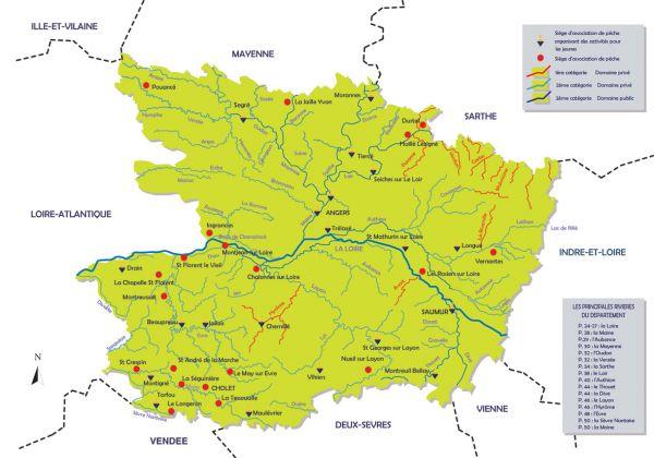 Carte riviere maine et loire - Office de tourisme maine et loire ...