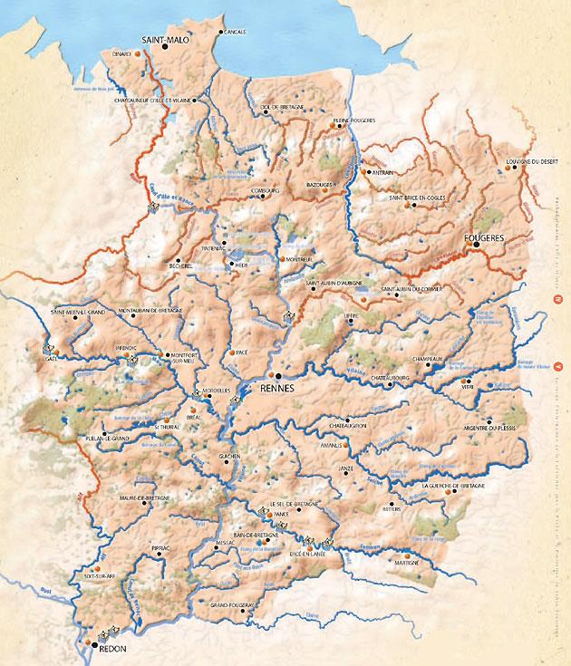 Carte du domaine piscicole de l'Ile-et-Vilaine