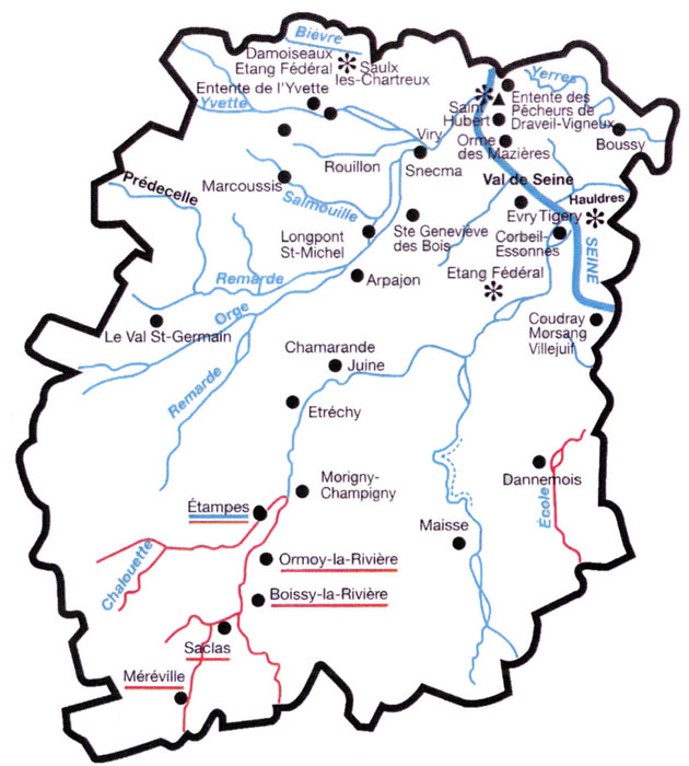 Réseau hydrographique de l'Essone