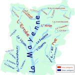 Réseau hydrographique de Mayenne