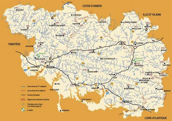 Carte Des Rivières Du Morbihan | tonaartsenfotografie