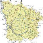 Carte de la Nièvre