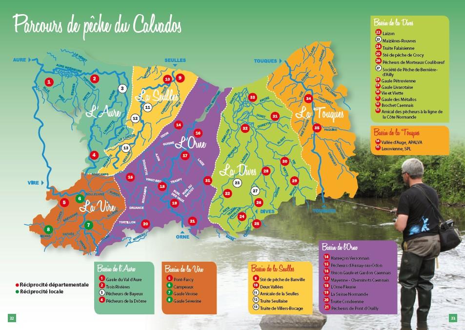 Parcours de pêche du Calvados