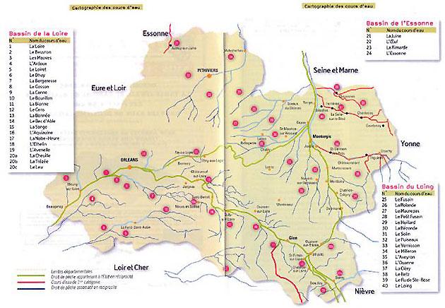 Réseau hydrographique du Loiret