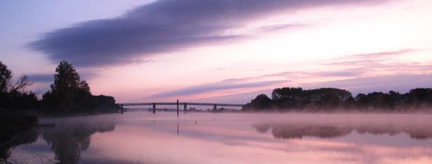Fédération de pêche de Saône-et-Loire : Coucher de soleil sur la Saône