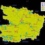 Réseau hydrographique du Maine-et-Loire